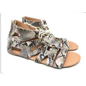 Shoes - Woman's animal print sandal